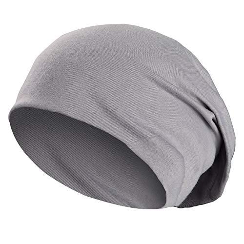Wirezoll Winter Leicht und Weich Slouch Beanie Mütze für Damen, Herren, Jungen und Mädchen, Hell Grau, Einheitsgröße