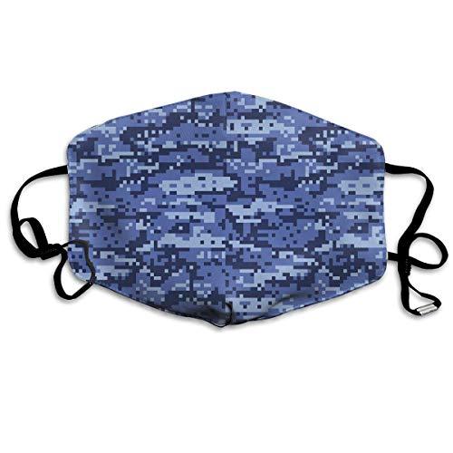 Vidmkeo Unisex-Staubmaske Blau Digital Urban Camo Mundmaske Gesicht Kleidung Anti Verschmutzung Outdoor-Maske Aktivitäten Warm Winddicht Gesichtsmasken Unisex5 - Für Frauen Engel-hut