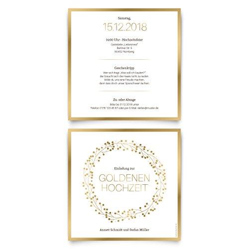 ᐅᐅ112019 Goldhochzeit Einladungskarte Alle Top