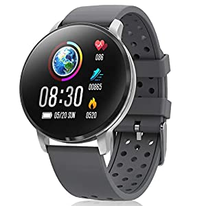 CatShin Smart Watch Activity Tracker con monitor de frecuencia cardíaca - CS06 IP68 Impermeable Multifunción Ronda Fitness Bluetooth Reloj deportivo para hombres y mujeres,compatible con iOS y Android 2