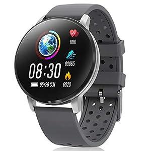 CatShin Smartwatch, Reloj Inteligente para hombre mujer, IP68 Impermeable reloj de fitness con Podómetro Pulsómetros… 2