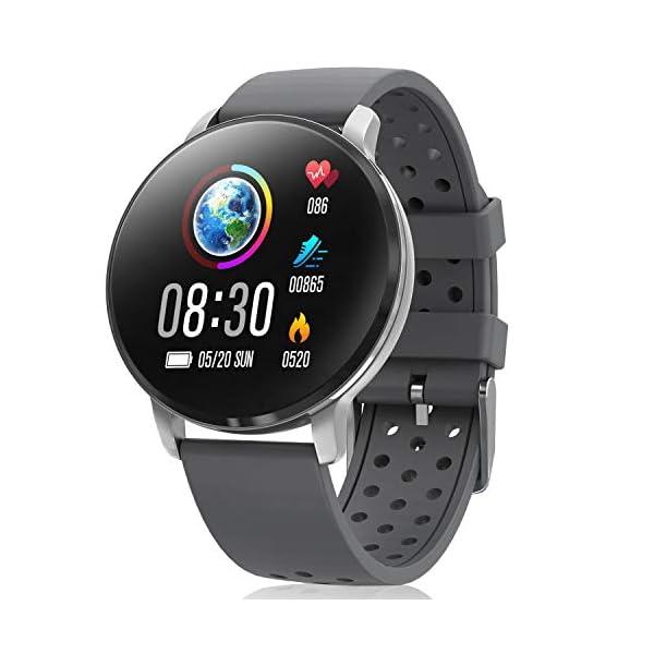 CatShin Smart Watch Activity Tracker con monitor de frecuencia cardíaca - CS06 IP68 Impermeable Multifunción Ronda Fitness Bluetooth Reloj deportivo para hombres y mujeres,compatible con iOS y Android 1