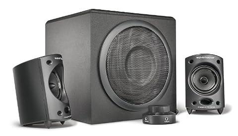 Wavemaster MOODY - Kit d'enceintes 2.1 Stereo (65 Watt) Pour TV, gaming, smartphone, PC, tablette