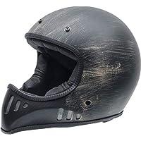 NZI MAD Carbón Casco de Moto(Negro Oxyd,Medio)