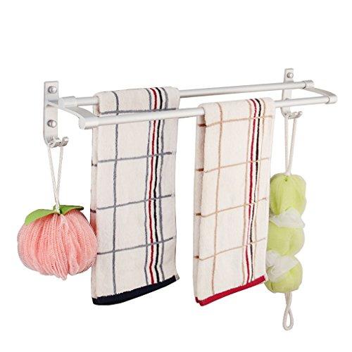 Home mall- Spazio alluminio Towel Rack bipolare barra di tovagliolo bagno portasciugamani ( dimensioni : L30cm )