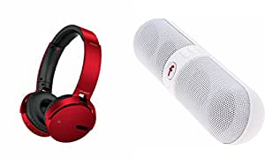 MIRZA Extra Bass XB 650 Headphones & Bluetooth Speaker for LENOVO s850(XB 650 Headphones,With MIC,Extra Bass,Headset,Sports Headset,Wired Headset & Facebook Speaker,Bluetooth Speaker)