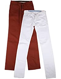 Dress Code Clothing Men's Jeans (Brown And White, Set Of 2, 32)