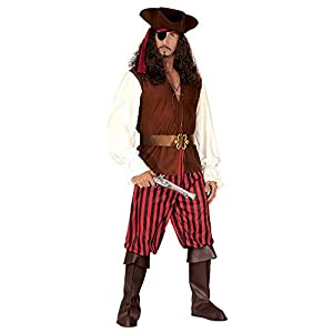 "Mens High Sea Pirate Man Costume Extra Large UK 46"" for Buccaneer Fancy Dress"