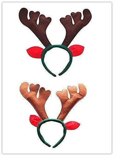 Gwill Rentier-Stirnband, 6pcs Rentier-Geweih-Stirnband-Rotwild-Party-Hüte für Ostern Halloween-Weihnachtskinderparty
