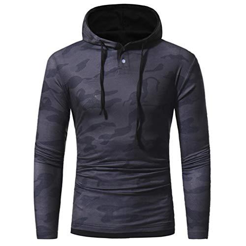 Herren Pullover,TWBB Camouflage Drucken Kapuzenpullover Herbst Winter Hoodied Sweatshirt Lange Ärmel Tops Mantel Outwear
