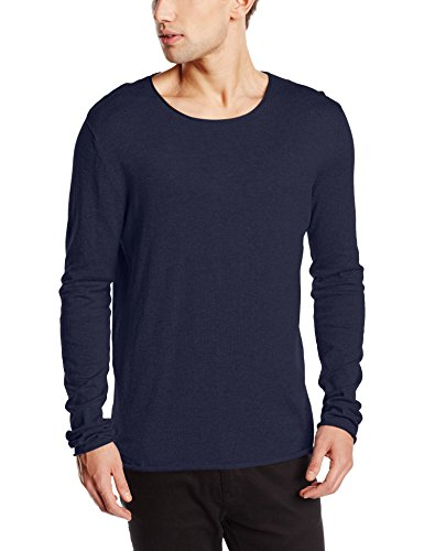 SELECTED HOMME Herren Regular Fit Pullover SHDDOME CREW NECK NOOS, Einfarbig, Gr. XX-Large, Blau (Navy Blazer)