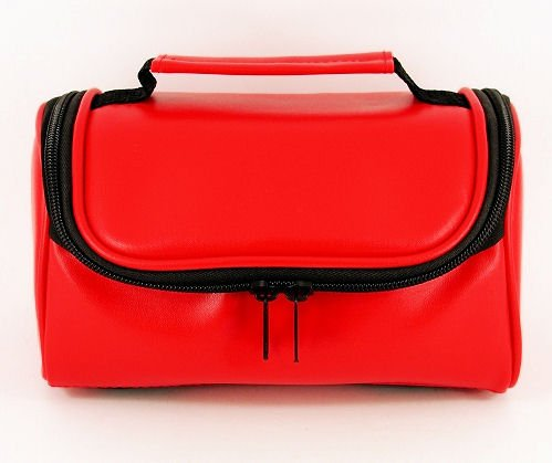 tgc-r-camera-case-for-rollei-prego-125-with-carry-handle-red-faux-leather