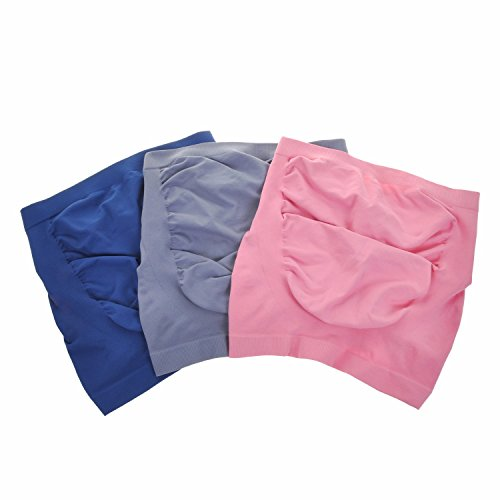 Gratlin Femme Lot de 3 Bandeau de Maternité Sans Coutures Ceinture de Grossesse Multicolore #8