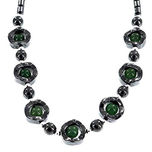 Damen Halskette, Mode Vintage Chunky Modeschmuck Stein Perlen Aussage Frauen Halskette Choker Bib Kragen Schmuck Frauen Mädchen