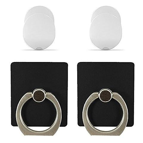 Telefon Ständer Ring Halterung, jemache 360Grad drehbar Universal Griff Ring Ständer für Smartphone, Tablet, iPhone/iPad/iPod Touch, Samsung Galaxy/Note, LG, HTC, schwarz