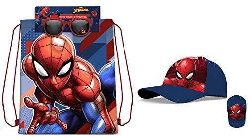 Spiderman Beutel + Sonnenbrillen Spiderman + Mütze Spiderman (Für Kinder Spiderman-schlafsack)