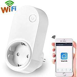 Intelligente Steckdose,Dootoper Smart Steckdose Wlan Steckdose Wlan Smart Plug Kompatibel mit Amazon Alexa Google Home Steckdose App Steuerung