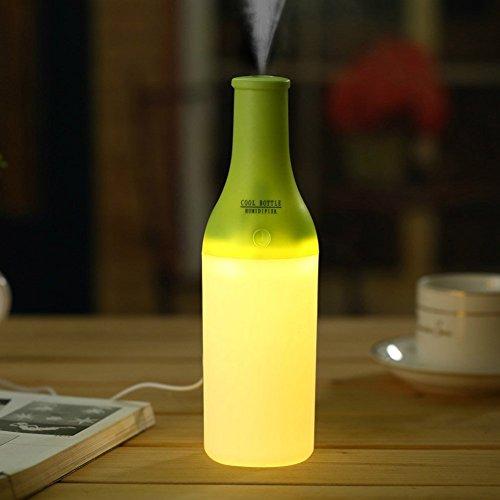 Mini Luftbefeuchter , Ubegood Cool USB Mini Flasche Diffuser Luftbefeuchter mit LED Lampe und Kaltnebel Aromatherapie Humidifier für das Büro oder den Heimgebrauch (Grün)