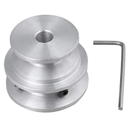 Aluminium D40x30x8mm V-förmige Doppelrillen Entwurf 2 Schritt Nut Riemenscheibe Bohrung 8mm Riemenbreite 10mm mit Schlüssel für Motorwelle Rundriemen
