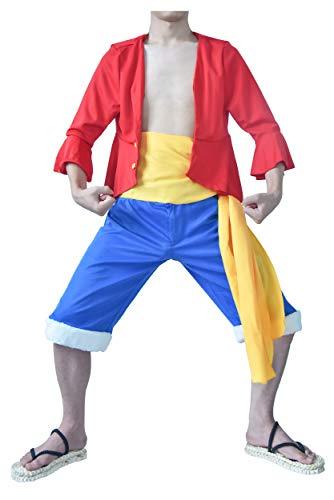 DAZCOS Herren us-größe anime monkey d. ruffy outfit cosplay männer kleine rot