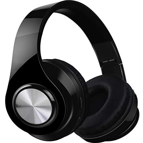 MARXIAO Headset Kabelloses Bluetooth-Headset 4.1, tragbarer Faltbarer FM-Subwoofer Intelligente Kopfhörer mit Geräuschunterdrückung, geeignet für Sportreisen im Freien,Schwarz