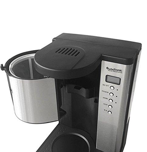edelstahl kaffeemaschine mit thermoskanne und timer fr bis zu 15 tassen kaffee 125l kompakte. Black Bedroom Furniture Sets. Home Design Ideas