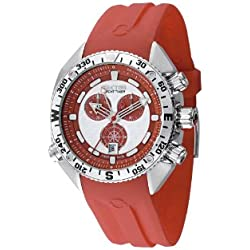 Sector Men's Quartz Watch with Red Dial Analogue Display and Red PU Strap R3271966015