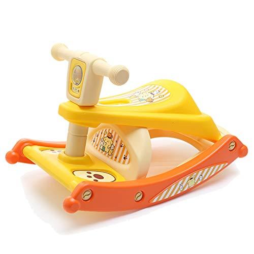 LYXPUZI Baby, das Sitz isst Kinder Schaukelpferd Baby Multi-Funktions-Esszimmerstuhl Baby Wiege Stuhl Mehrzweckleiter Kleiner Stuhl für einen kleinen Hocker (Farbe : Gelb)