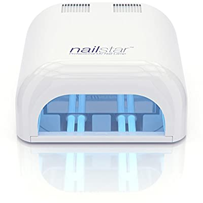 NailStar® 36 Watt Professional UV Shellac Gel Nail Lamp Dryer with 120 and 180 Second Timers + 4 x 9W Bulbs Included
