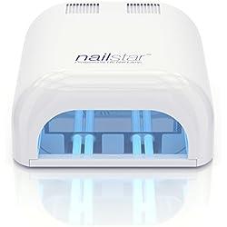 NailStar Lámpara 36W UV Profesional, Secador de Uñas en Manicuras de Shellac y Gel con Temporizadores 120 y 180 Segundos