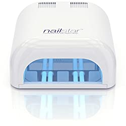 NailStar Professionelle UV-Nagellampe 36W inkl. 4 Leuchtmitteln x 9W und Timer