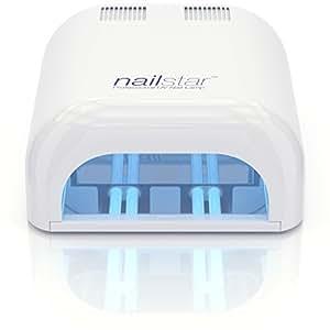 NailStar™ Lampe Sèche-ongles à UV Professionnelle 36 Watt pour Laque, Shellac, Gel et Vernis de manucure avec durées de 120 et 180 sec. Contient 4 Ampoules 9W.