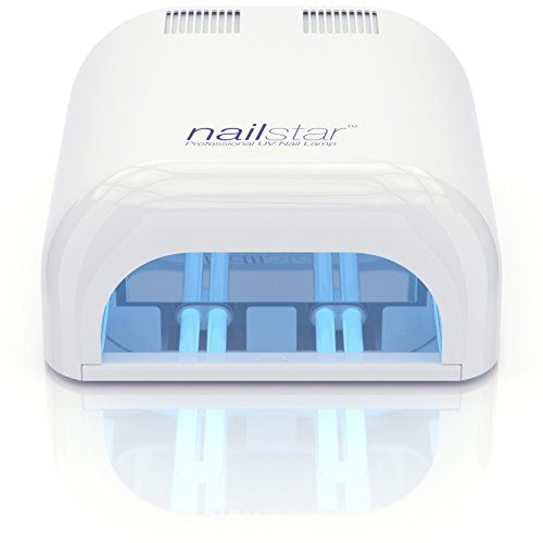 NailStar® 36 Watt Professional UV Nail Lamp Nail Dryer for Gel with 120 and 180 Second Timers + 4 x 9W Bulbs Included