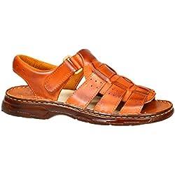 Cómodos Zapatos Hombres de Cuero Real Búfalo Sandalias Modelo-817