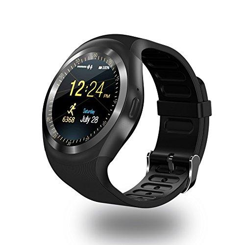 Top-Smartwatch-Y1-Bluetooth-Smart-Watch-schwarz-mit-SIM-Card-Slot-TF-Karte-Untersttzung-fr-Android-iOS-iPhone-7-7plus-8-8PLUS-X