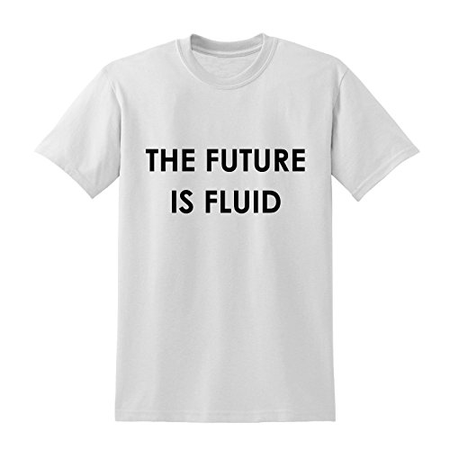 Write Here Collection Clothing | The Future is Fluid Slogan Tshirt Lesbian Gay Bi Transgender Non-Binary LGBT |