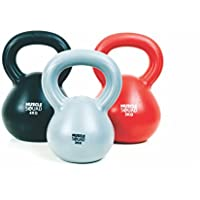 MuscleSquad 2, 3, 4 Kg Kettlebell Set - Vinyl Coated Kettlebell Weights - Kettlebell Weights Workout Equipment For Home Or Gym Use - Free Exercise Chart Included - Set Of 3
