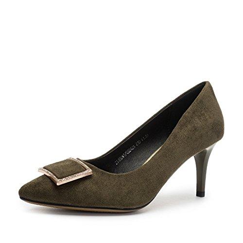 Ladies High Heels,Tacco Sottile Bocca Superficiale Scarpe A Punta B