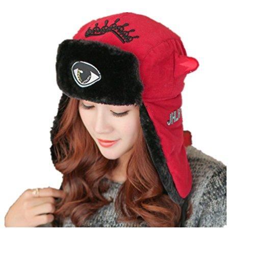 Womens Lovely Warm Winter Bomber Cap Lady Russian Trapper Ear Flaps Ski Hat