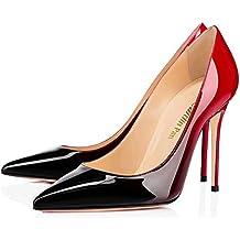 Caitlin Pan Femmes Bout pointuSlingback Pompes à Talons Hauts 10cm  Chaussures à Talon Aiguille ... 6bd5122ddb20