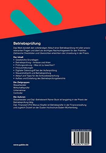 Betriebsprüfung: Grundlagen, Ablauf, Prüfungsbericht