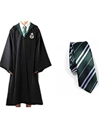 Harry Potter Slytherin Adult Robe&Tie Size L Dress Costume Free Tattoo