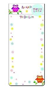 Robert Frederick Portobello Chouettes magnétique Liste Pad, en plastique, couleurs assorties