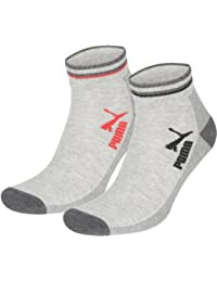 2 pairs of Puma Quarter Socks Jump with terry sole Gr. 35-46 Unisex