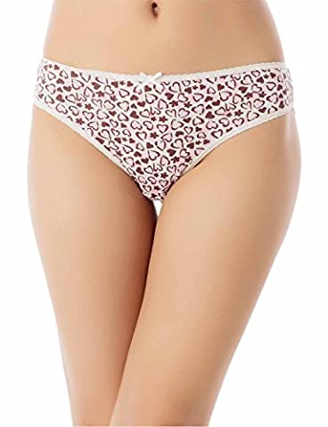 iB-iP Femme Comfort Soft Cotton Bowknot Butterf Mid Taille Gaine-Culotte Courte, Taille: S, Rose