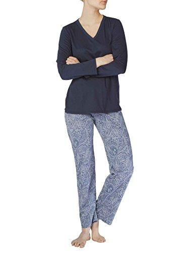 Calida Damen Zweiteiliger Schlafanzug Greta Pyjama lake water blue