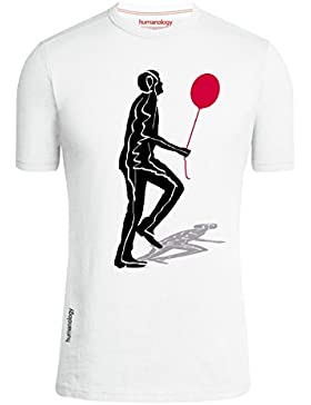 Camiseta manga corta unisex original Flying Man Humanology