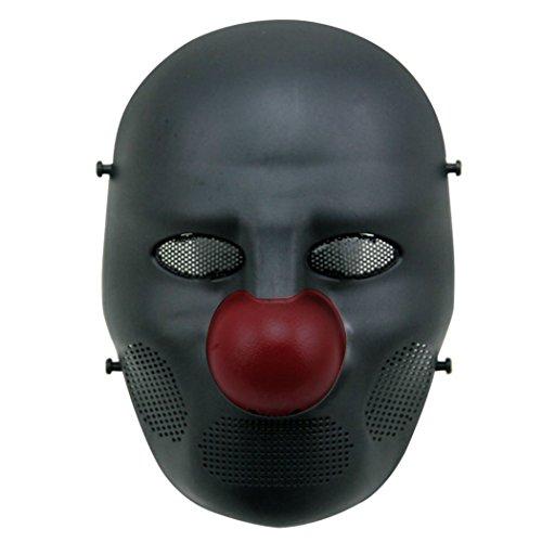 ek Taktische Full Face Masken Halloween Kostüm Maske Joker Cosplay Maske für Erwachsene Grün Rot (Joker-halloween-maske)