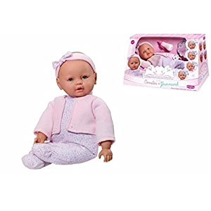 Rosa Toys- Muñeco Bebe comilón 40 cm con Accesorios, Multicolor (49904601)
