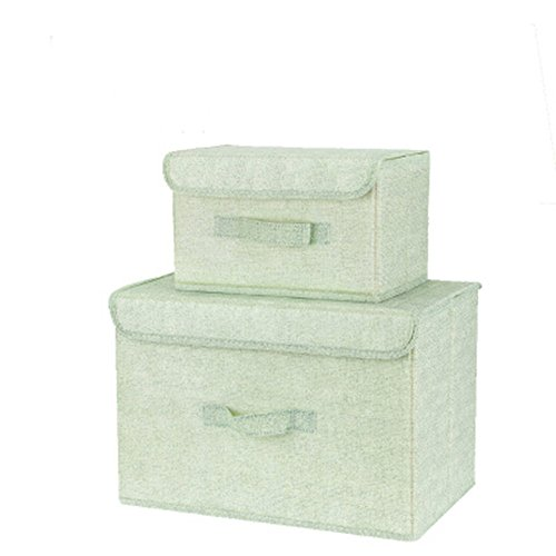 Nice Foldable Cotton Linen Clothing Storage Basket Trash Can Toy Box Storage Box with lid Washable Non-Woven Storage Box Two-Piece